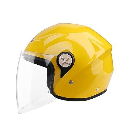 XY&CF Casco de Moto Medio Invierno Unisex Opcional Medio ...