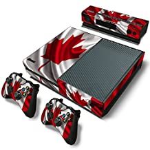 Xbox One Console Skin Decal Sticker Canada Flag + 2 Controller & Kinect Skins Set