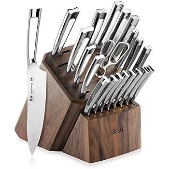 Cangshan N1 Series 60010 22-Piece German Steel Forged Knife Block Set, Walnut Block