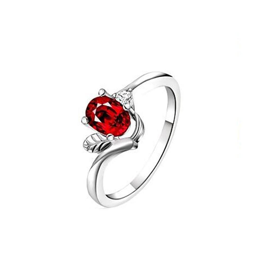 GYJUN 925 argent plaqué rouge cristal déclaration bagues mariage/partie/quotidien/Casual 1pc 8