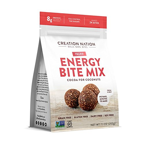 ENERGY BITE MIX By Creation Nation | No-Bake, Minutes to Make | DIY ENERGY BALLS & BITES | Makes 24 Cocoa for Coconuts | Keto, Paleo, Vegan, Sugar Free, Gluten Free, Grain Free