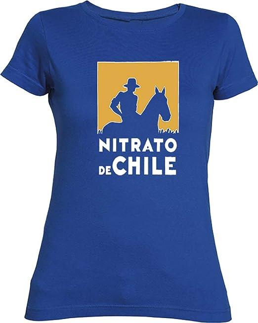 Desconocido Camiseta Chica Nitrato De Chile EGB ochenteras 80Žs Retro: Amazon.es: Ropa y accesorios
