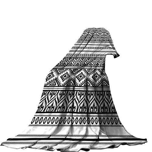 QINYAN-Home Manta de franela acogedora, diseño étnico, tradicional de mosaico azulejo portugués, azulejos de cerámica,...