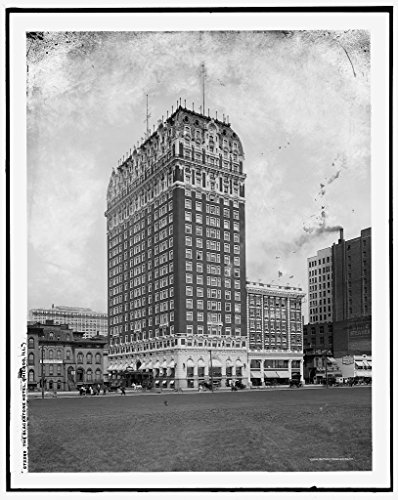 16 x 20 Ready to Hang Canvas Wrap The Blackstone Hotel Chicago Ill 1915 Detriot Publishing 47a