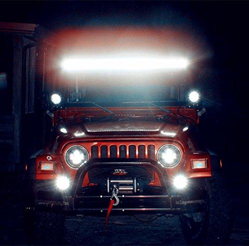 YITAMOTOR 2PACK 18W 4'' Square Led Work Light Spot Pod Light Driving Light Fog Light Offroad Led Light