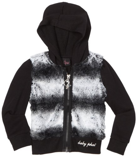 Baby Phat Big Girls' Chinchilla Faux Fur Hoodie Sweater