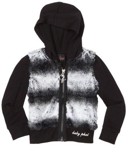 Baby Phat Big Girls' Chinchilla Faux Fur Hoodie Sweater