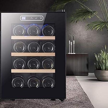 Refrigerador de Vino - Refrigerador de refrigerador de Vino Tinto Blanco Refrigerador de Vino de encimera - Mini refrigerador de Vino Compacto Independiente, 12 Botellas con Control Digital