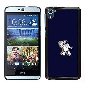 GIFT CHOICE / SmartPhone Carcasa Teléfono móvil Funda de protección Duro Caso Case para HTC Desire D826 /Rainbow Astronaut Cosmonaut/