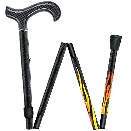 House Flame Derby Walking Cane With Folding