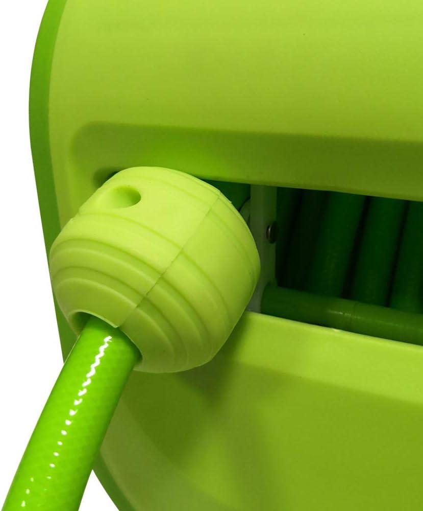 agricultura para jardin incluye manguera verde as-Schwabe 12616 Enrollador de mangera automatico garaje