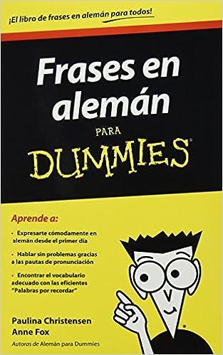 Frases En Aleman Para Dummies Spanish Edition Anne Fox