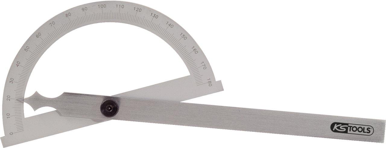 KS Tools 300.0642 Winkelgradmesser mit offenen Bogen 200mm