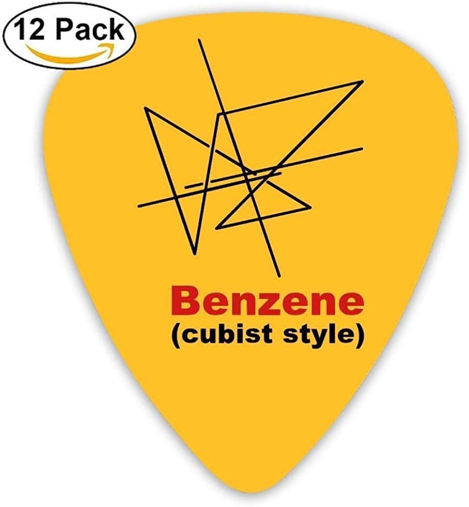 Púas de guitarra de celuloide púas de guitarra mandolina, cubismo de benceno impreso