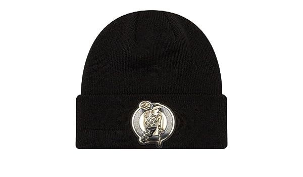 20a36608 Amazon.com : New Era Boston Celtics Beveled Hit Knit Cuffed Winter Hat :  Sports & Outdoors