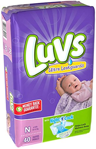 Luvs Newborn Ultra Leakguards Diapers, 40 Count