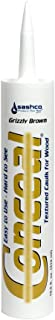 product image for Sashco 46090 10.5 oz. Conceal Textured Wood Caulk, Grizzly Brown