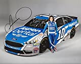 AUTOGRAPHED 2017 Danica Patrick #10 Aspen Dental Tooth Fairy Racing MEDIA DAY POSE (Monster Energy Cup Series) Signed Collectible Picture NASCAR 8X10 Inch Glossy Photo with COA