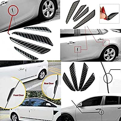 Carbon Fiber Car Side Door Edge Scratch Protector Guard Stickers Protective Trims for Car SUV Pickup Truck Gechiqno Universal Auto Door Side Edge Protection Guard 4 Black