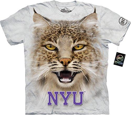 The Mountain Men's New York U Nyu Big Face Bobcat Adult T