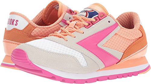 Brooks Heritage Women's Chariot Peach Nectar/Coral Reef/Fuchsia Purple 8.5 B US