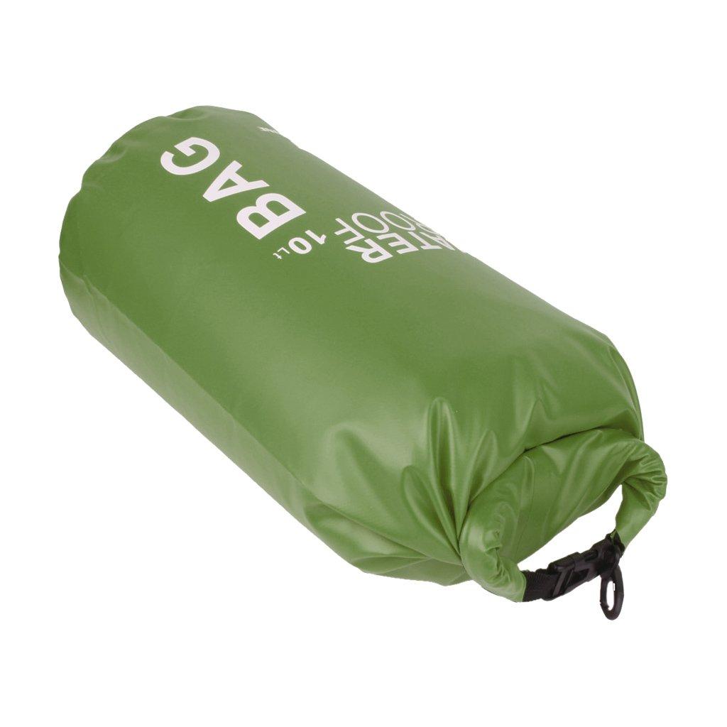 Sac Etanche Poche pour Camping Nautique Kayak Pêche Rafting Canoë-kayak (Vert, 10L) Générique