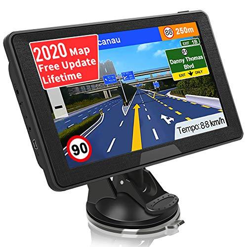 SAT NAV GPS Navigation System, Jimwey 7 inch 2020 Map Satellite Navigator Device for Car Truck Lorry, UK/EU Maps…
