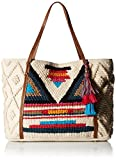 Steve Madden Bali Bohemian Tasseled Woven Patterned Fabric Tote, Beach Bag, Multi
