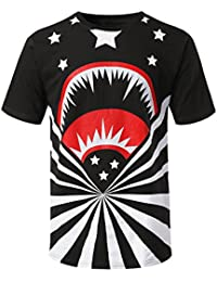 Mens Hipster Hip Hop Graphic Print Crewneck T-Shirt (Various Prints)