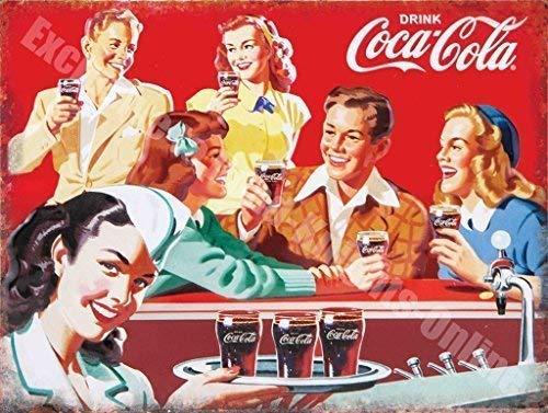 Coca Cola Retro Diner 50s America Bebida Metal/Cartel De ...