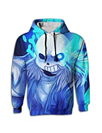Undertale Unisex Sweater Shirt Sublimation Full Print Casual Hoodie With Pocket White