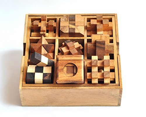9 Puzzle Set , Games & Puzzles, Wooden Puzzle Box Set, Great Christmas Gift