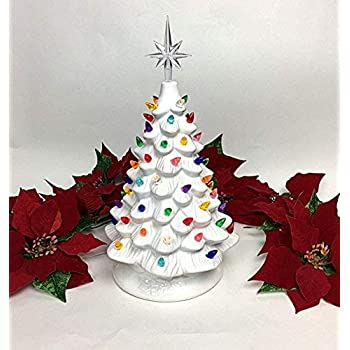 Amazon Com Ceramic Christmas Tree Plastic Light Up Twist