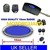 1 X FORD REMOTE KEY FOB CASE LOGO EMBLEM BADGE STICKER DECAL 18MM NEW UK SELLER