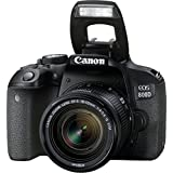 Canon EOS 800D Digital SLR with 18-55 IS STM Lens Black (International Model No Warranty)