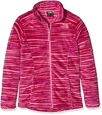 The North Face Kids Girls' Osolita Jacket (Little), Roxbury Pink, LG (14-16 Big Kids) - Hi Loft Fleece Jacket