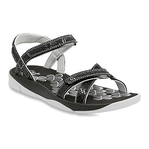 Clarks Womens Tresca Trace Wedge Sandal Black Snake 11 M