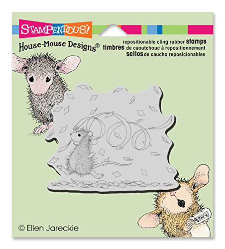 House Mouse Designs Rubber Stamp - STAMPENDOUS HMCV27  Rubber Stamp Cling Confetti Fun
