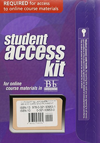 (Blackboard -- Access Card -- for Environment: The Science behind the Stories)