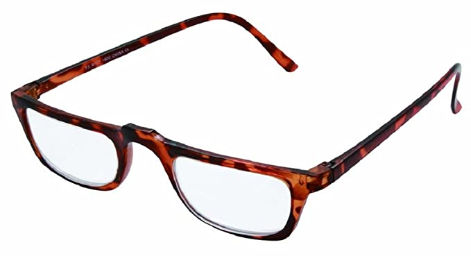 74ea94973b94 High Power Half Moon Magnifying Reading Glasses in Brown Turtle Frame  (Brown, 4.50)