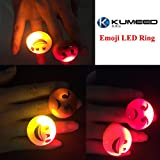 KUMEED Bright Flashing Emoticon LED Rings Pack of 36