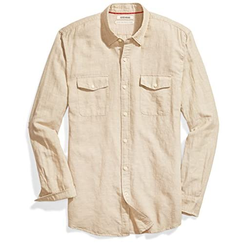 Goodthreads Standard-fit Long-Sleeve Linen Cotton Shirt Hombre