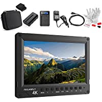 FEELWORLD A737 7 Inch Aluminum Full HD 1920X1200 On Camera Field Monitor Support 4K UHD 3840X2160P 4096X2160P HDMI Input 1200:1 Contrast 450cd/m2 Brightness 160 Viewing Angle Full Accessories Kit