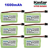 Kastar 6-PACK AAX2 2.4V 1600mAh MSM Plug Ni-MH Rechargeable Battery for Uniden BT1007 BT-904 BBTY0700001 CEZAi2998 DCX150 DECT1500 D1484 Panasonic HHR-P506 Home Handset Telephone (Check model down)