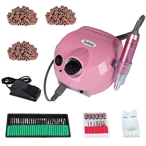 30000rpm Pro Electric Nail Drill Machine Pedicure Manicure Kits File Drill Bits Sanding Band Accessory Nail Salon Nail Art Tools ()