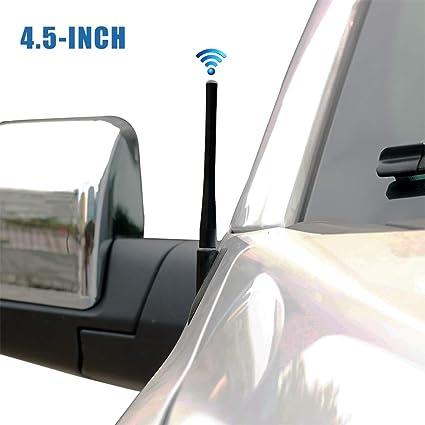 3.5 INCH Black Aluminum Perfect Replacement Short Antenna MAST for Dodge RAM 1500 2009-2019