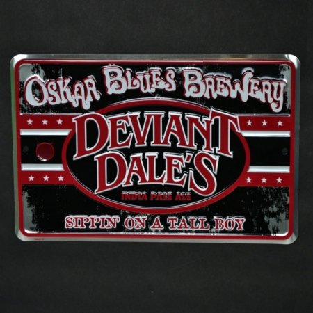 (Oskar Blues Brewery - Deviant Dale's India Pale Ale - Tin Sign/Tacker)