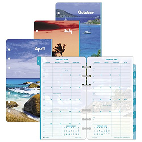 Day-Timer Refill 2018, Two Page Per Month, January 2018 - December 2018, 3-3/4