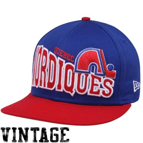 NHL New Era Quebec Nordiques Navy Blue-Red Stoked Snapback Hat ()