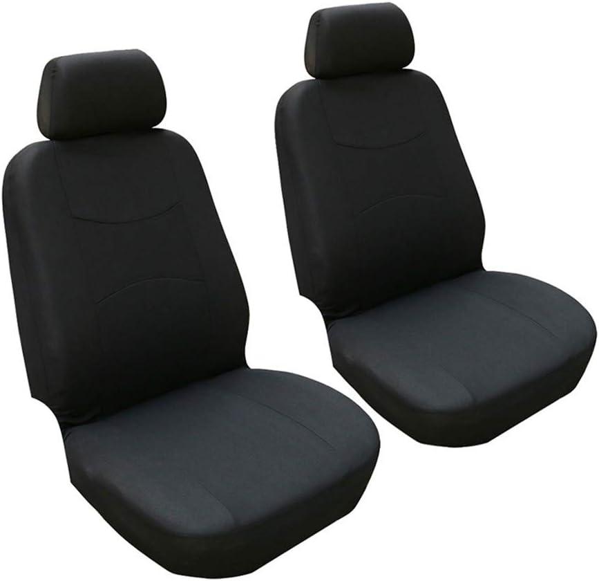 Seater Anteriore GODGETS Copri-sedili Auto Universale Set Completo//Set Copri-Sedile Universali per Anteriori e Posteriori//Accessori Auto Interno,Arancia Nera,2